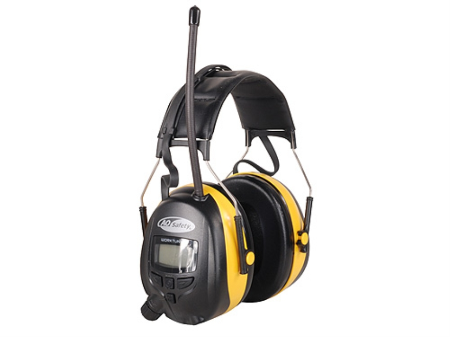 3M Digital Worktunes AM/FM Electronic Earmuffs (NRR 22dB) Black and Yellow