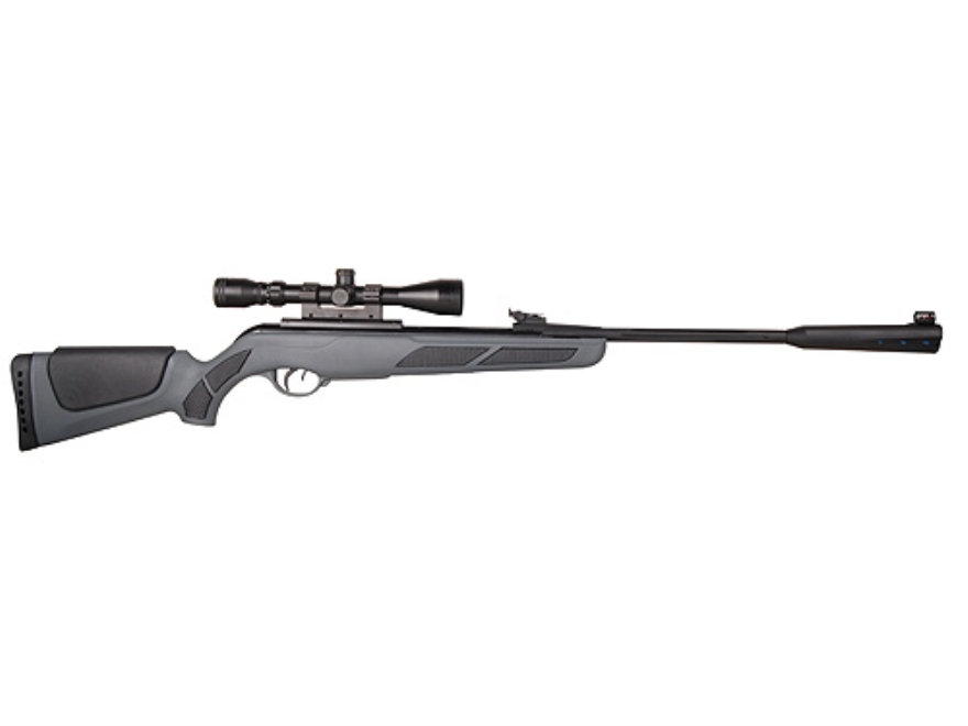Gamo Whisper Deluxe Air Rifle 177 Caliber Black Synthetic Stock Blue Barrel with Gamo Airgun Scope 3-9x 40mm Matte
