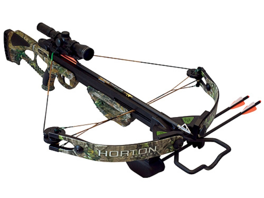 Horton Bone Collector Crossbow Package with 4x 32mm Mult-A-Range Scope Realtree APG Camo