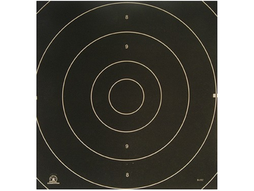 NRA Official International Pistol Targets Repair Center B-37C 25 Meter Rapid Fire Paper Pack of 100