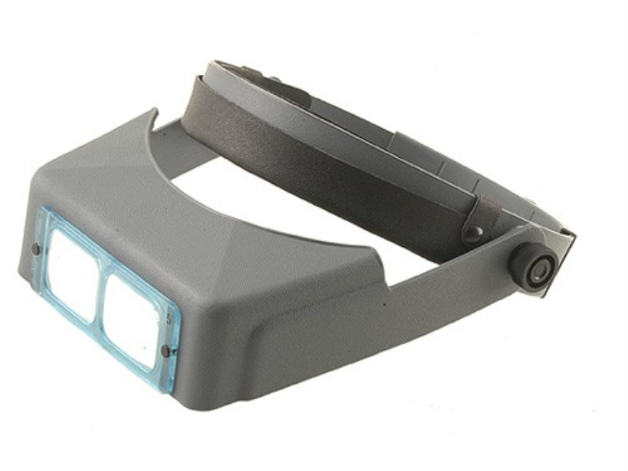 "Donegan Optical OptiVISOR Magnifying Headband Visor with 2-1/2X at 8"" Lens Plate"
