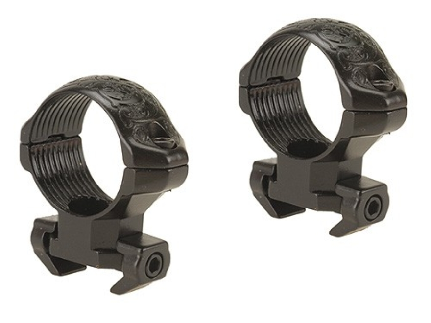 "Millett 1"" Angle-Loc Windage Adjustable Weaver-Style Rings Engraved Gloss Medium"