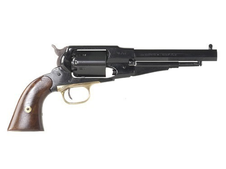 "Pietta 1858 Remington New Model Navy Steel Frame Black Powder Revolver 36 Caliber 6-3/8"" Blue Barrel"