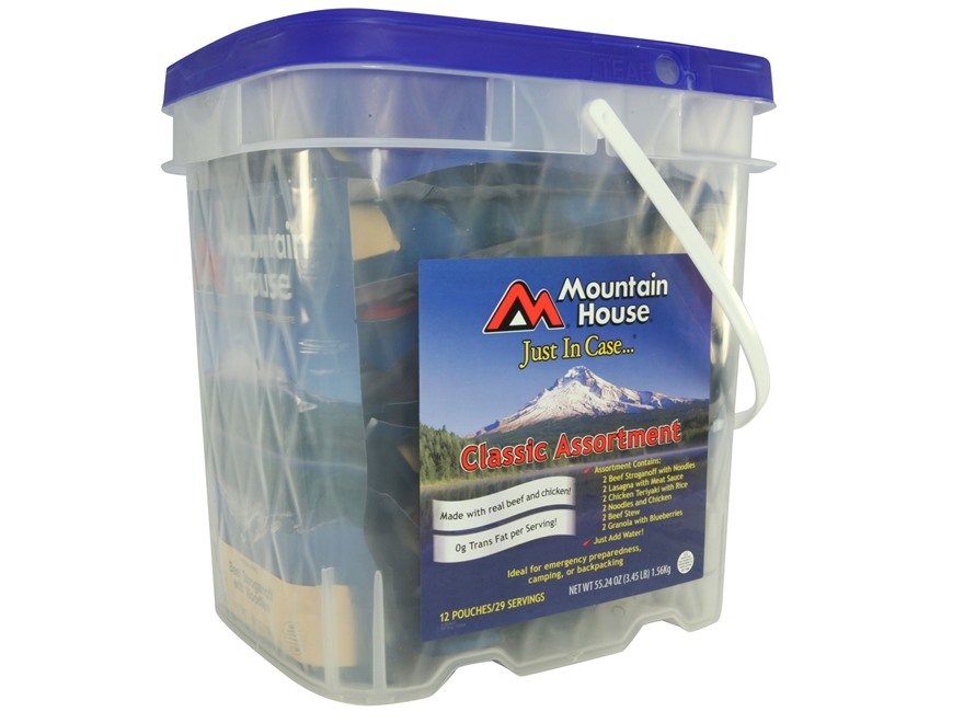 Mountain House Just in Case Classic Freeze Dried Food Bucket 29 Servings