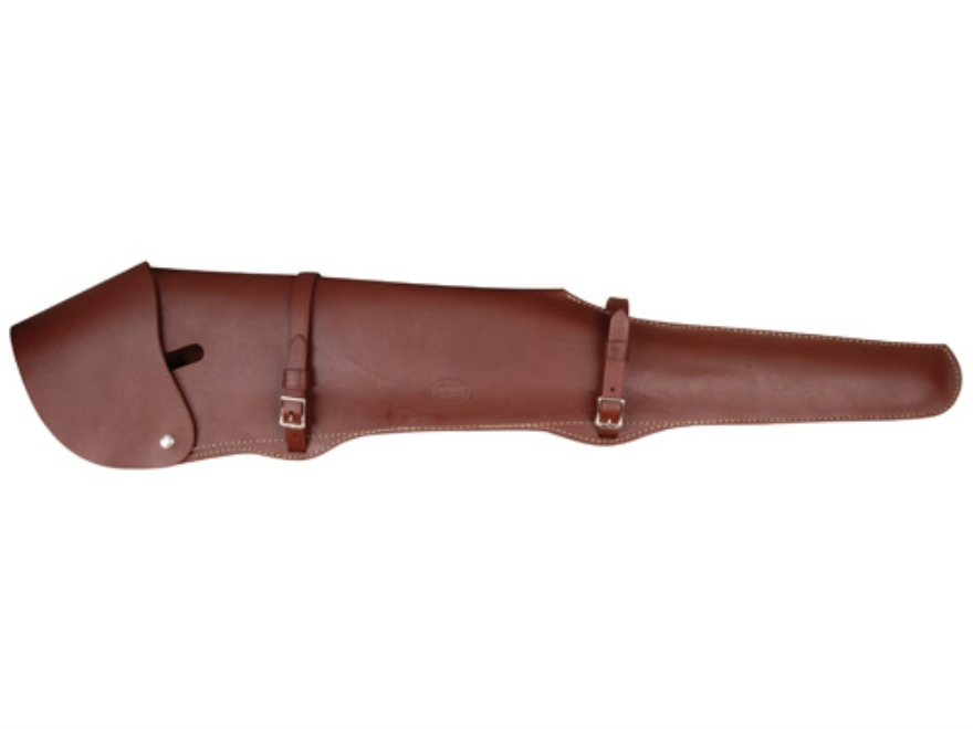 "Hunter Scoped 26"" Rifle Scabbard Leather Brown"