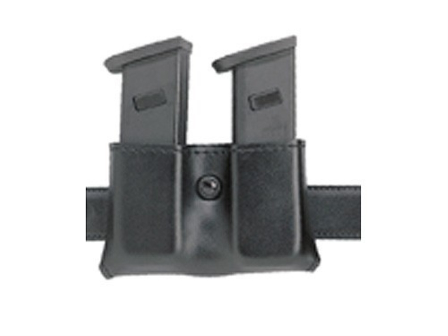 "Safariland 079 Double Magazine Pouch 1-3/4"" Snap-On Beretta 92F, HK P7, P7M8, Sig Sauer P225, P239, S&W 39, 439 Polymer Fine-Tac Black"