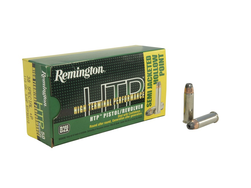 Remington High Terminal Performance Ammunition 38 Special +P 110 Grain Semi-Jacketed Hollow Point Box of 50