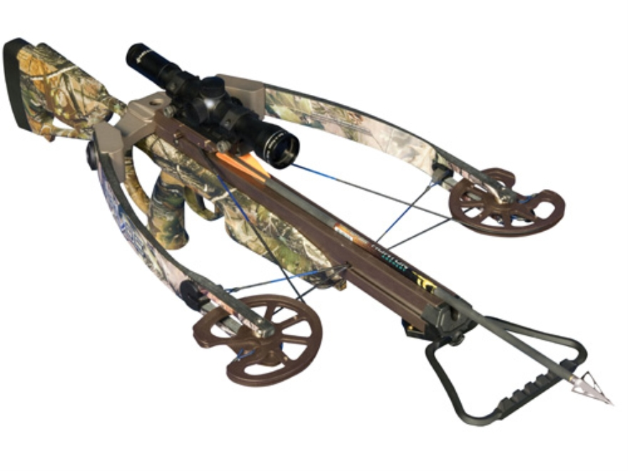 Horton Havoc 175 Crossbow Package with 4x 32mm Mult-A-Range Scope Realtree APG Camo