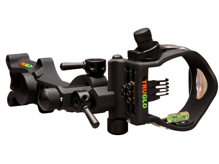 TruGlo Micro-Brite Detachable Bracket 5-pin Sight (1 .029, 2 .019 and 2 .010 pins) with Light