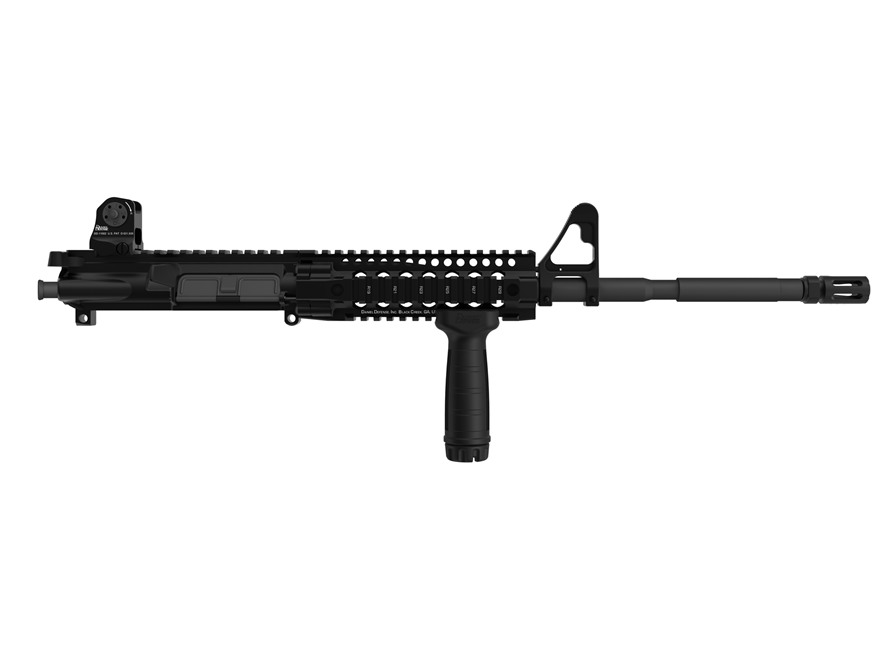 "Daniel Defense AR-15 DDM4v2 A3 Flat-Top Upper Assembly 5.56x45mm NATO 1 in 7"" Twist 16"" M4 Barrel Chrome Lined CM with DDM4 7.0 Quad Rail Free Float Handguard, Flash Hider"