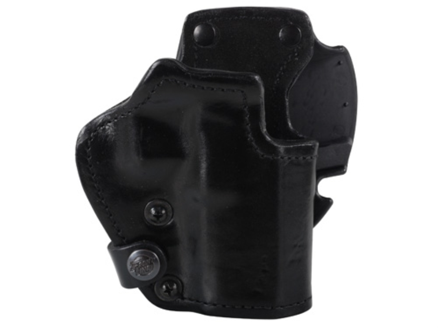 Front Line LKC 3-Layer Belt Holster Right Hand Glock 17, 22, 31 Suede Lined Leather and Kydex Black