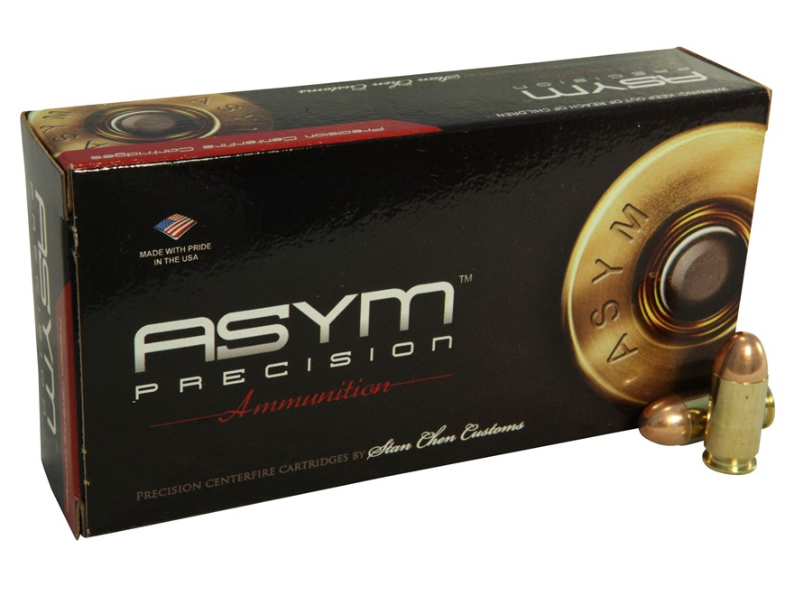 ASYM Precision Match Hardball Ammunition 45 ACP 230 Grain Full Metal Jacket Box of 50