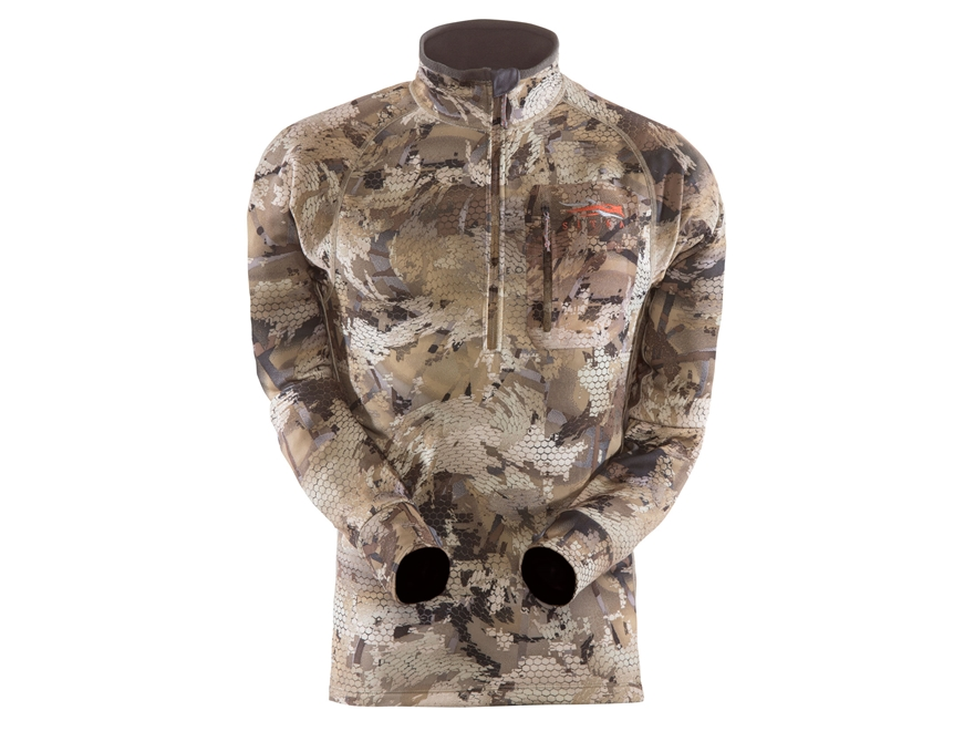 Sitka Gear Men's Traverse Zip-T Base Layer Shirt Long Sleeve Polyester Gore Optifade Waterfowl Camo 2XL 50-53