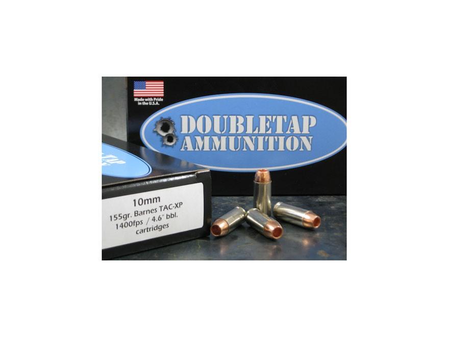 Doubletap Ammunition 10mm Auto 155 Grain Barnes TAC-XP Lead-Free Box of 20