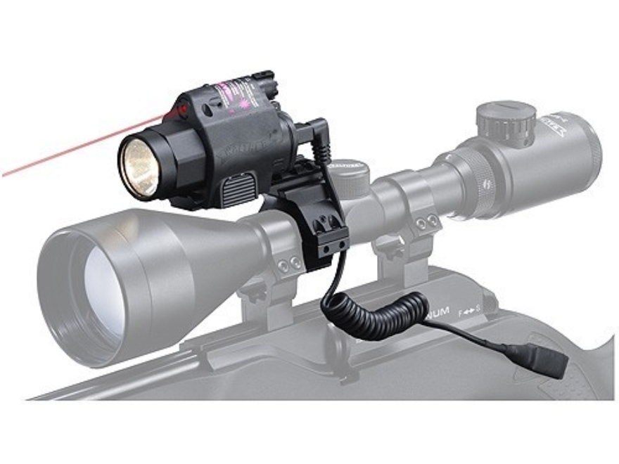 """Walther NightHunter Laser Sight and Flashlight White Xenon Bulb with 1"""" Accesory Ring Matte"""