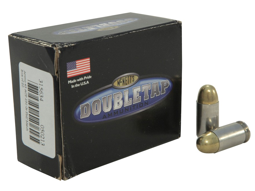 Doubletap Ammunition 45 ACP 230 Grain Full Metal Jacket Match