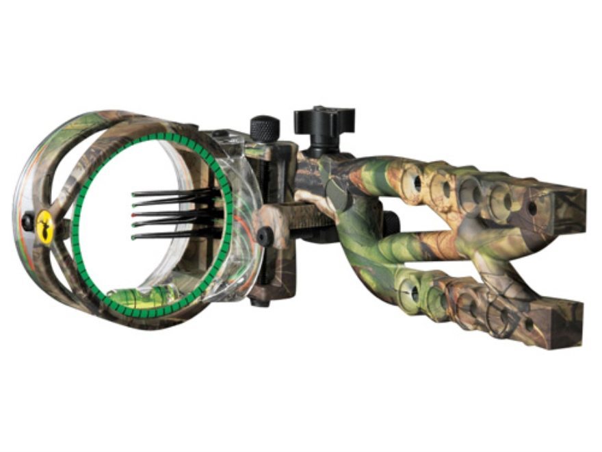 "Trophy Ridge Cypher 5 Micro 5-Pin Bow Sight .019"" Pin Diameter Ambidextrous Ballistic Copolymer Realtree APG Camo"