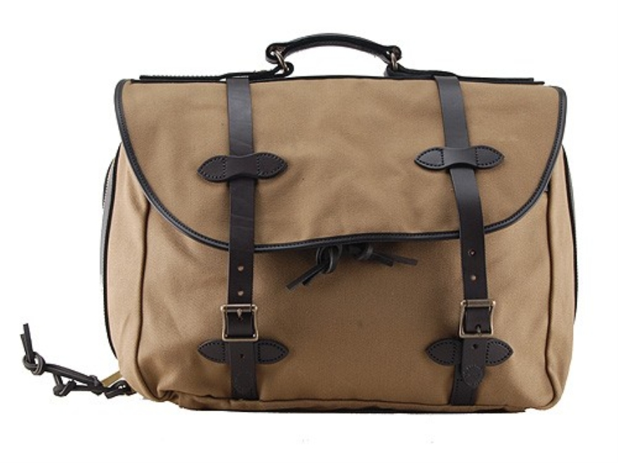 Filson Large Carry-On Bag 18 x 14 x 9-1/2 Cotton Dark Tan