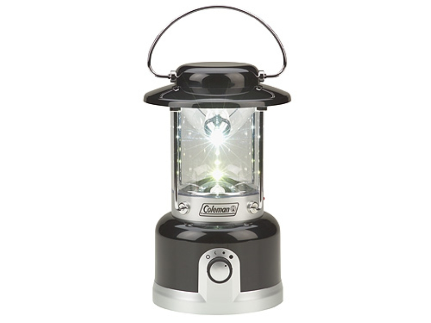 Coleman Family Size Lantern LED Rechargeable Aluminum Black and Silver