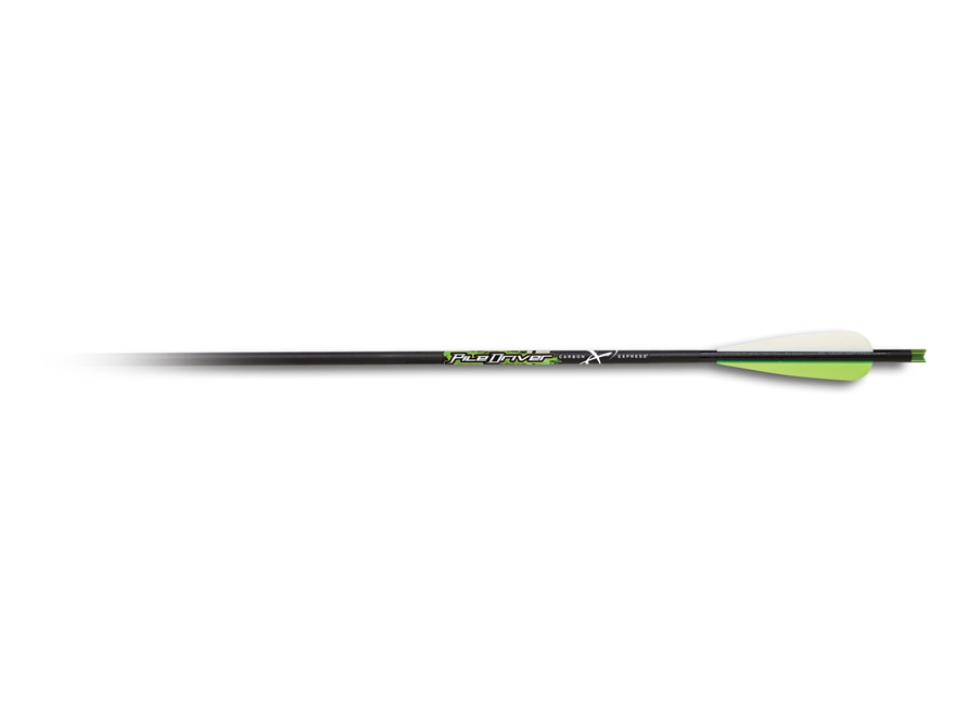 Carbon Express Piledriver 20 Carbon Crossbow Bolt Half