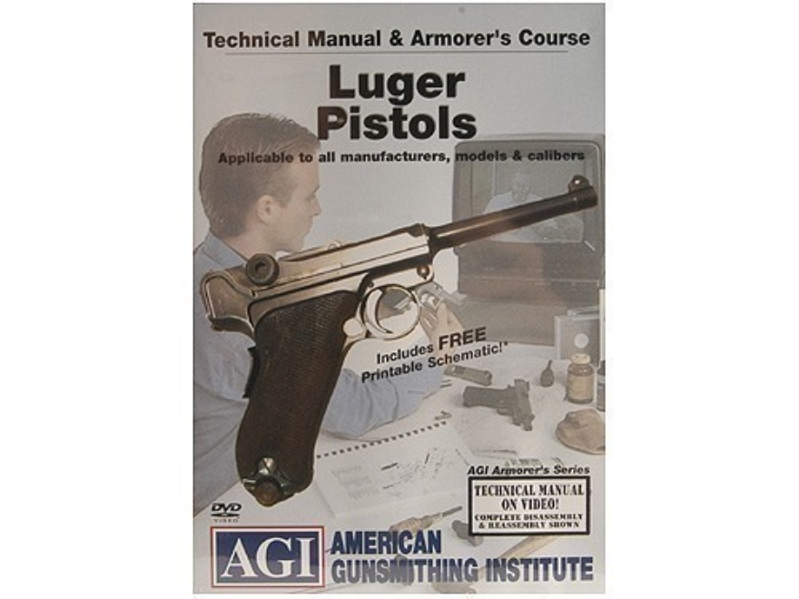"American Gunsmithing Institute (AGI) Technical Manual & Armorer's Course Video ""Luger Pistols"" DVD"