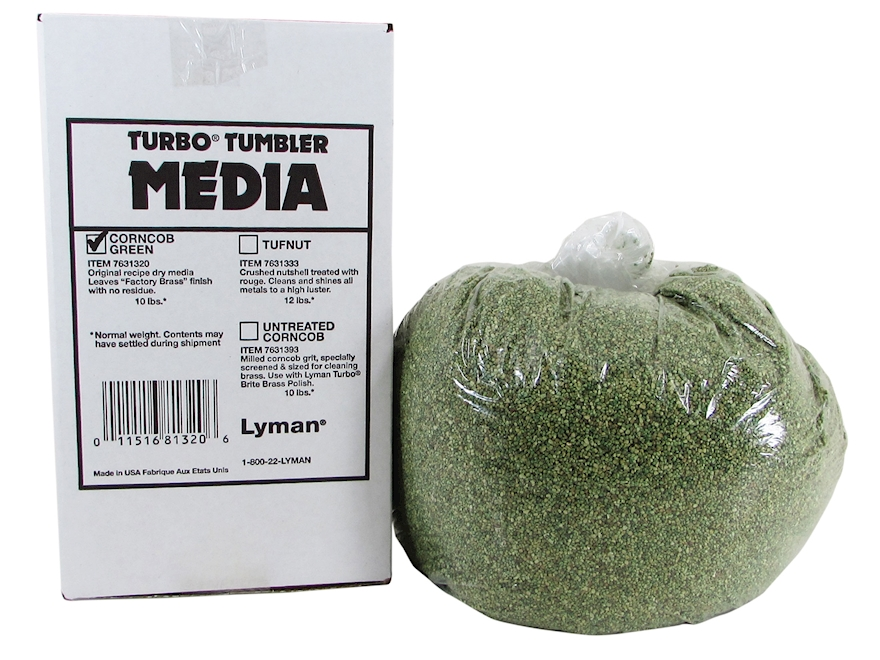 Lyman Turbo Brass Cleaning Media Treated Corn Cob Box