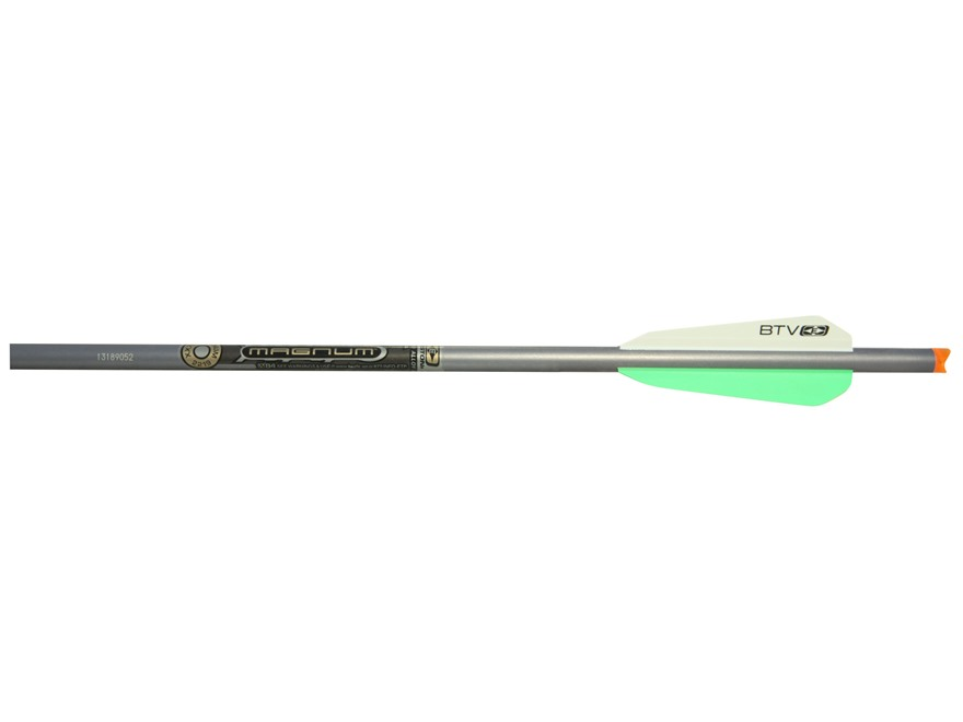 "Easton XX75 Magnum Aluminum Crossbow Bolt with 3"" BTV Crossbow Vanes and Half Moon Nock Pack of 6"
