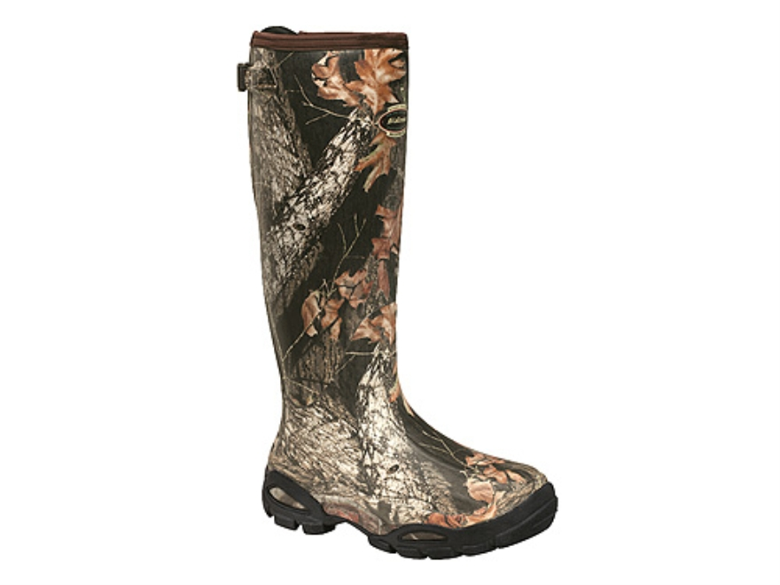 "LaCrosse Alpha Burly Sport 18"" Waterproof Uninsulated Hunting Boots Rubber Clad Neoprene Mossy Oak Break-Up Camo Women's 7"