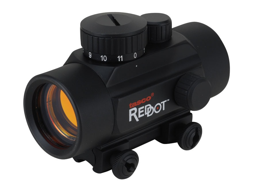 Tasco Red Dot Sight 38mm Tube 1x 30mm Airgun/Rimfire 5 MOA Dot with Rimfire/Airgun Mount Matte