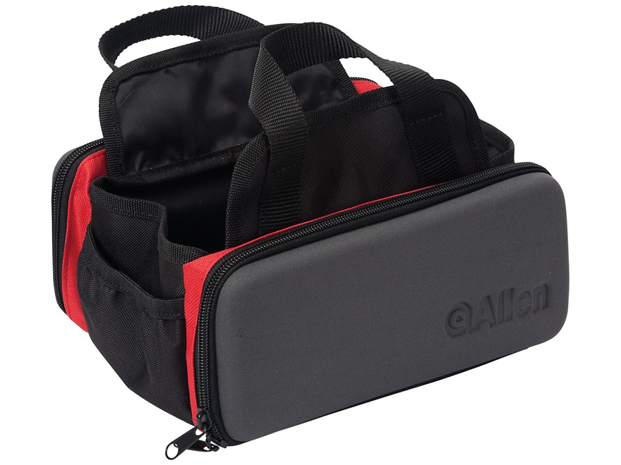 Allen Eliminator 4 Box Shot Shell Ammunition Carrier Bag Gray, Black, and Red