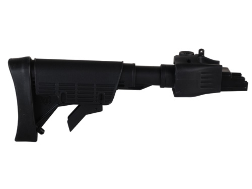 Advanced Technology Strikeforce 6-Position Collapsible Stock with Cheekrest & Scorpion Recoil Pad AK-47, AK-74 Stamped Receivers Polymer Black