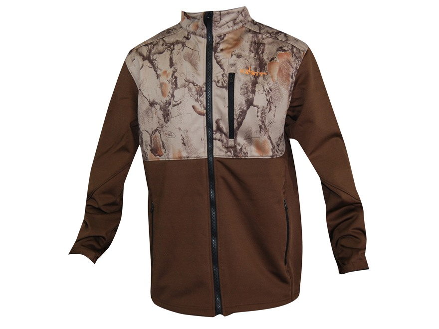 Natural Gear Men's Windproof Softshell Jacket Polyester Brown and Natural Gear Natural Camo Large 41-44