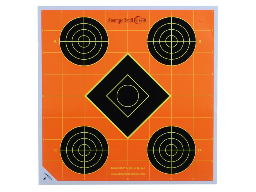 "Caldwell Orange Peel  8"" Self-Adhesive Sight-In Target"