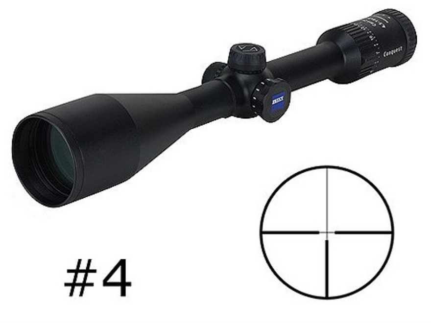 Zeiss MC Conquest Rifle Scope 4.5-14x 50mm Side Focus #4 Reticle Matte