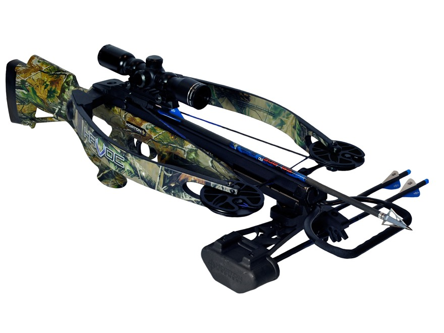 Horton Havoc 175 Crossbow Package with 4x 32mm Mult-A-Range Crossbow Scope Realtree APG...
