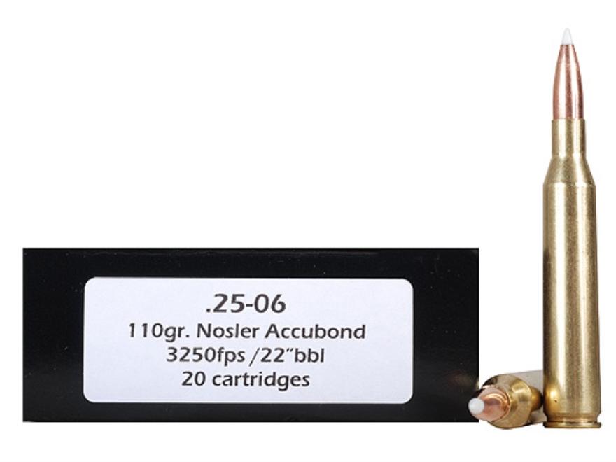 Doubletap Ammunition 25-06 Remington 110 Grain Nosler AccuBond Spitzer Box of 20