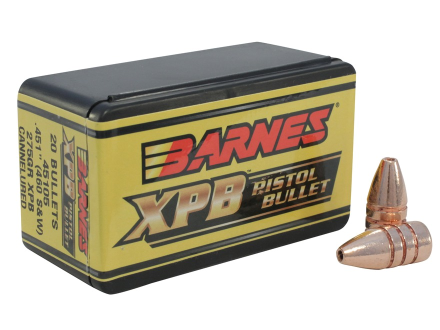 Barnes XPB Handgun Bullets 460 S&W (451 Diameter) 275 Grain Solid Copper Hollow Point L...