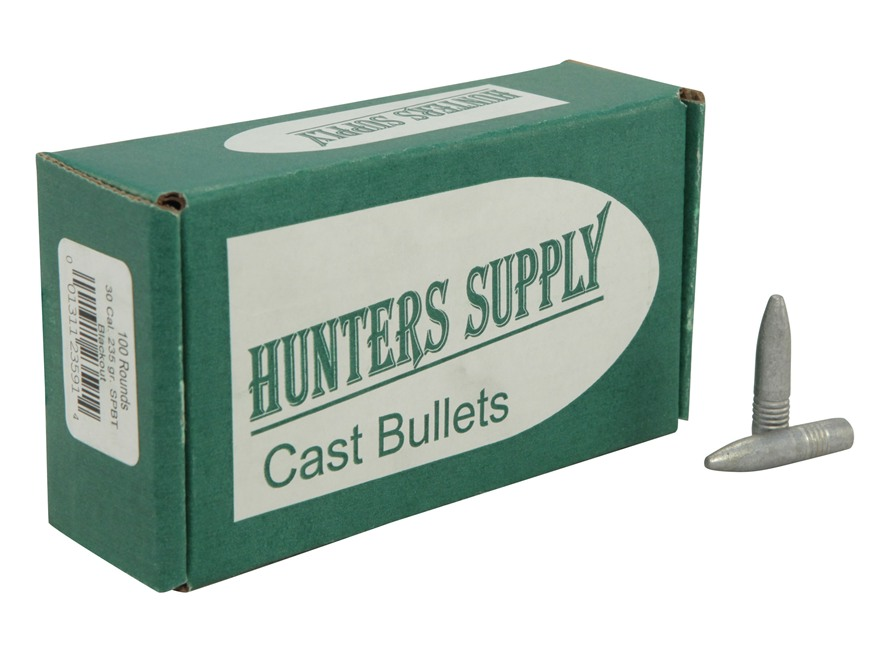 Hunters Supply Hard Cast Bullets 30 Caliber 300 AAC Blackout (309 Diameter) 235 Grain Lead Boat Tail Spitzer Point