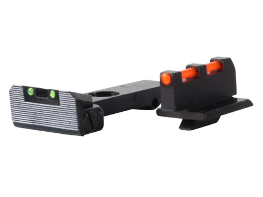 Williams Fire Sight Set Ruger GP100, Redhawk, Super Redhawk Fiber Optic Green