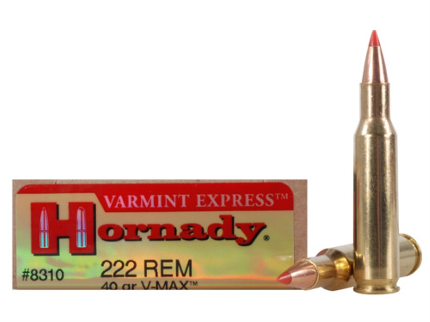 Hornady Varmint Express Ammunition 222 Remington 40 Grain V-Max Box of 20