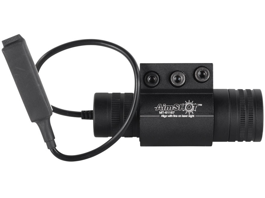 """AimShot LS6800 Red Laser Sight Kit with Picatinny-Style Rail Mount, Slide Switch and 6"""" Pressure Pad Switch Matte"""