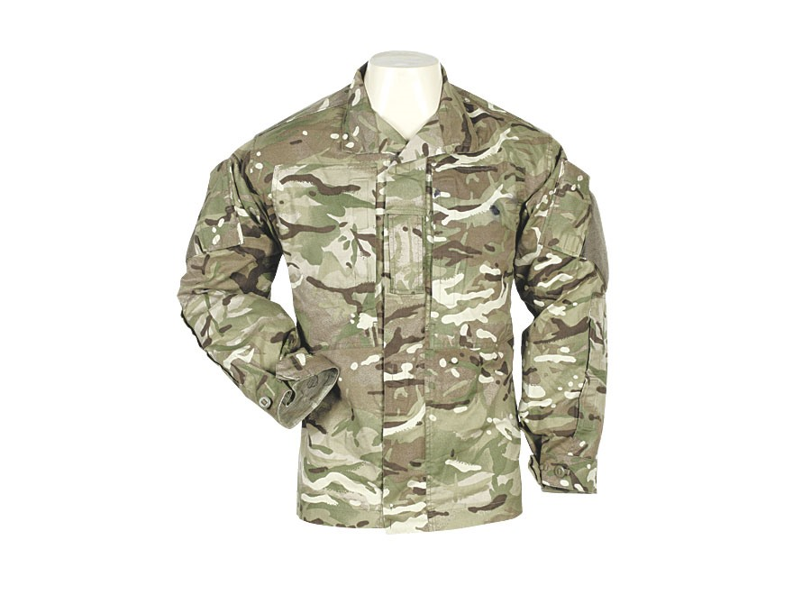 Military Surplus British Warm Weather Field Jacket Multi-Terrain Pattern Camo L
