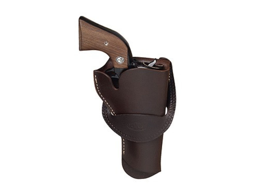 "Hunter 1090 Single Loop Crossdraw Holster Right Hand Colt Single Action Army, Ruger Old Army, Blackhawk, Vaquero 4-.75"" to 5.5"" Barrel Leather Antique Brown"