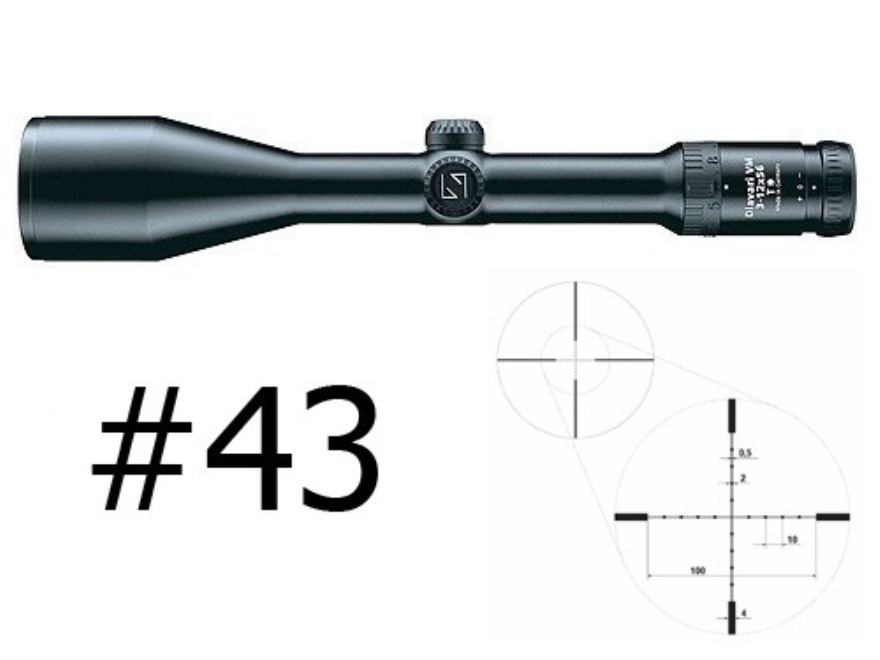 Zeiss Diavari VM/V Rifle Scope 30mm Tube 3-12x 56mm First Focal Mil-Dot Reticle Matte