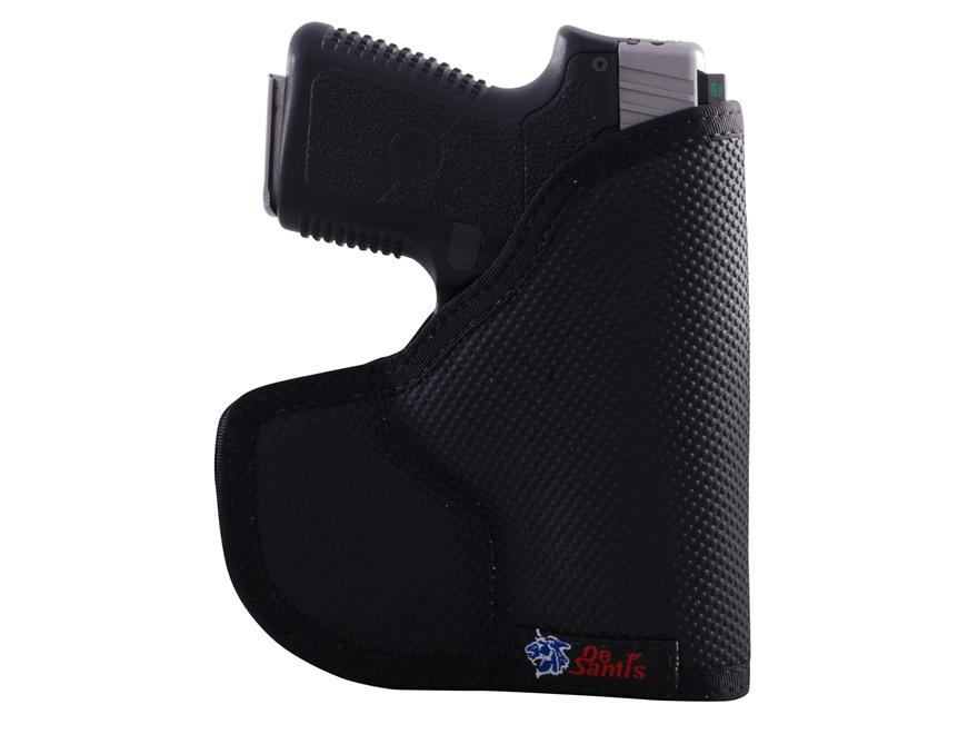 DeSantis Nemesis Pocket Holster Ambidextrous Glock 43, Kahr K9, P9, MK9, CM9, PM9, Kel-Tec PF9 Nylon Black