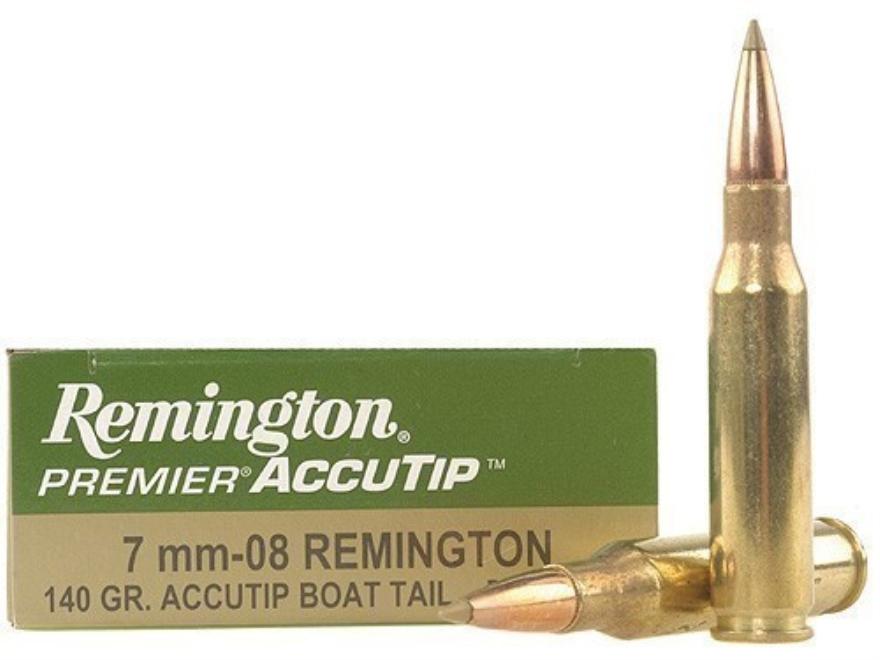 Remington Premier Ammunition 7mm-08 Remington 140 Grain AccuTip Boat Tail Box of 20