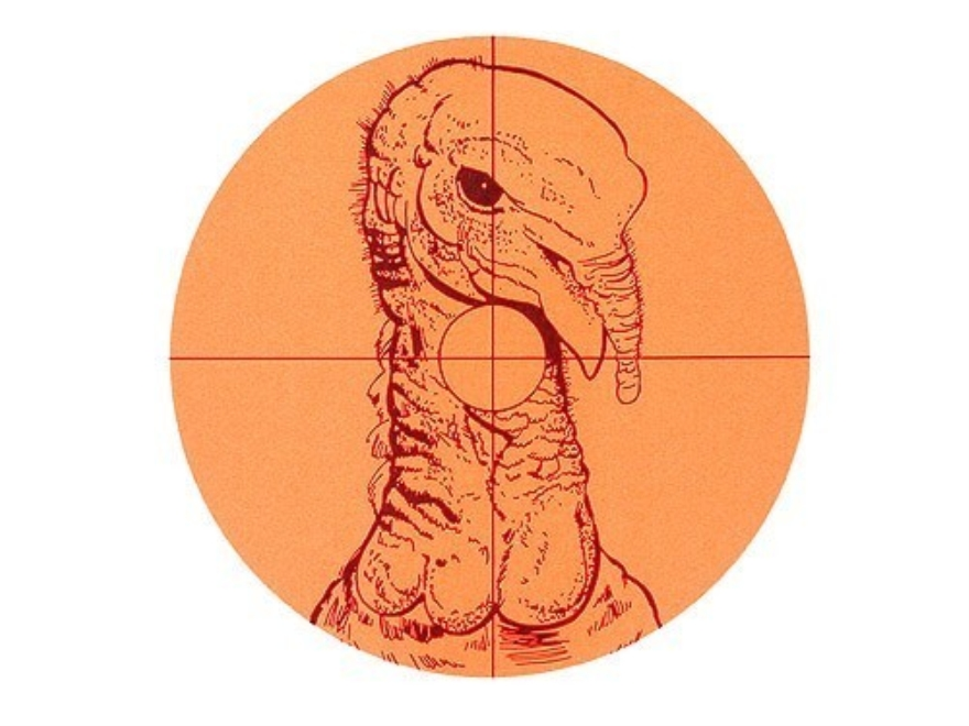 "Lyman Fluorescent Animal Target Turkey 6"" Package of 10"