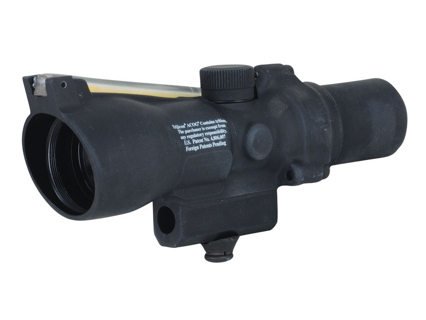 Trijicon ACOG TA47 Compact BAC Rifle Scope 2x 20mm Dual-Illuminated Amber Triangle Reticle with AR-15 Carry Handle Base Matte