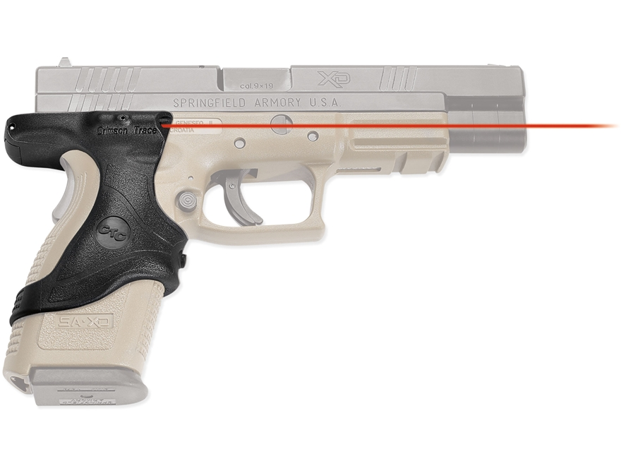 Crimson Trace Lasergrips Springfield XD, XD45 Full Size and Compact Front Activation Polymer Black