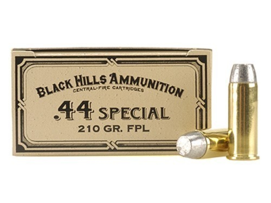 Black Hills Cowboy Action Ammunition 44 Special 210 Grain Lead Flat Point Box of 50